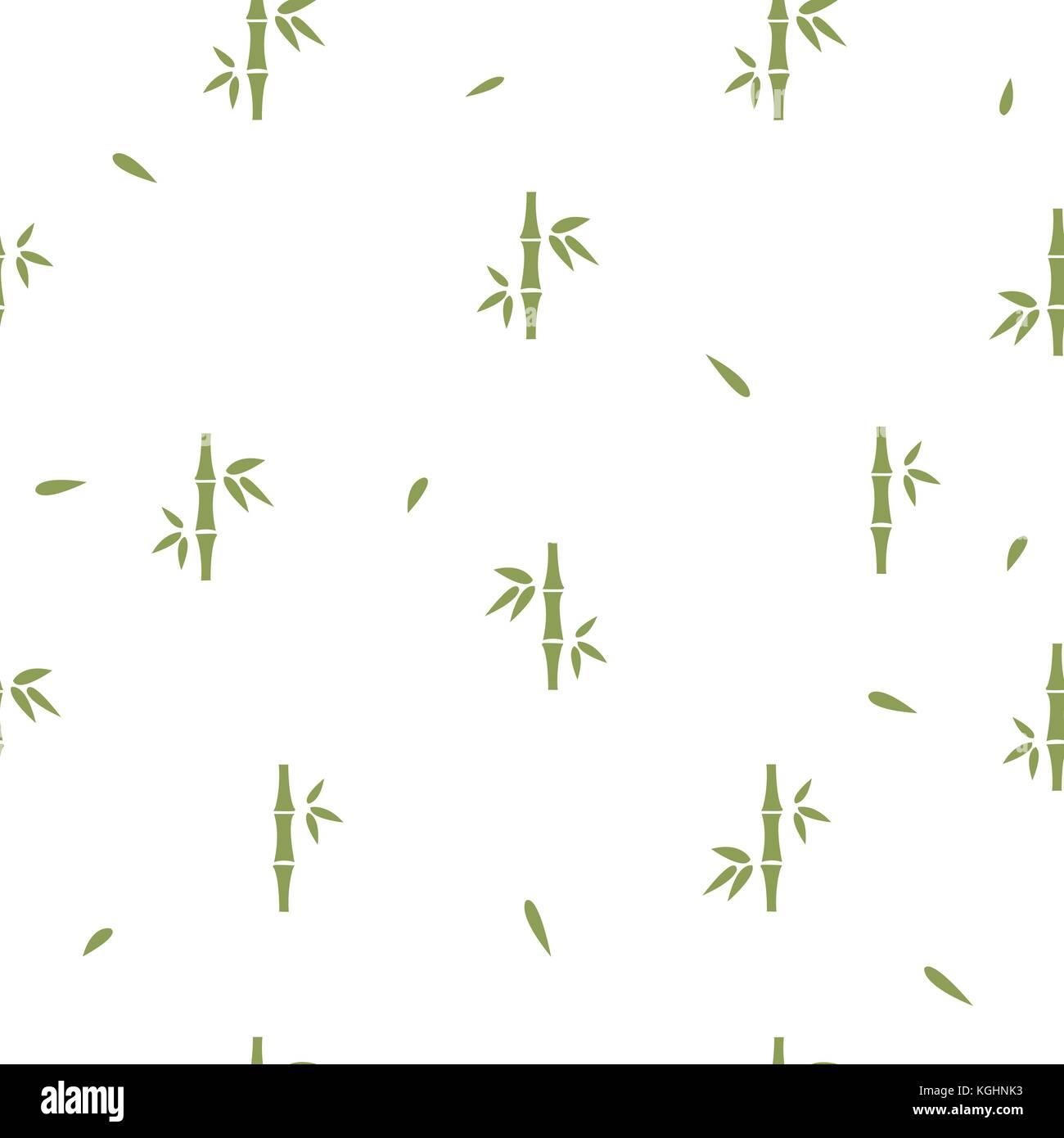 seamless pattern with bamboo on white background minimalism great