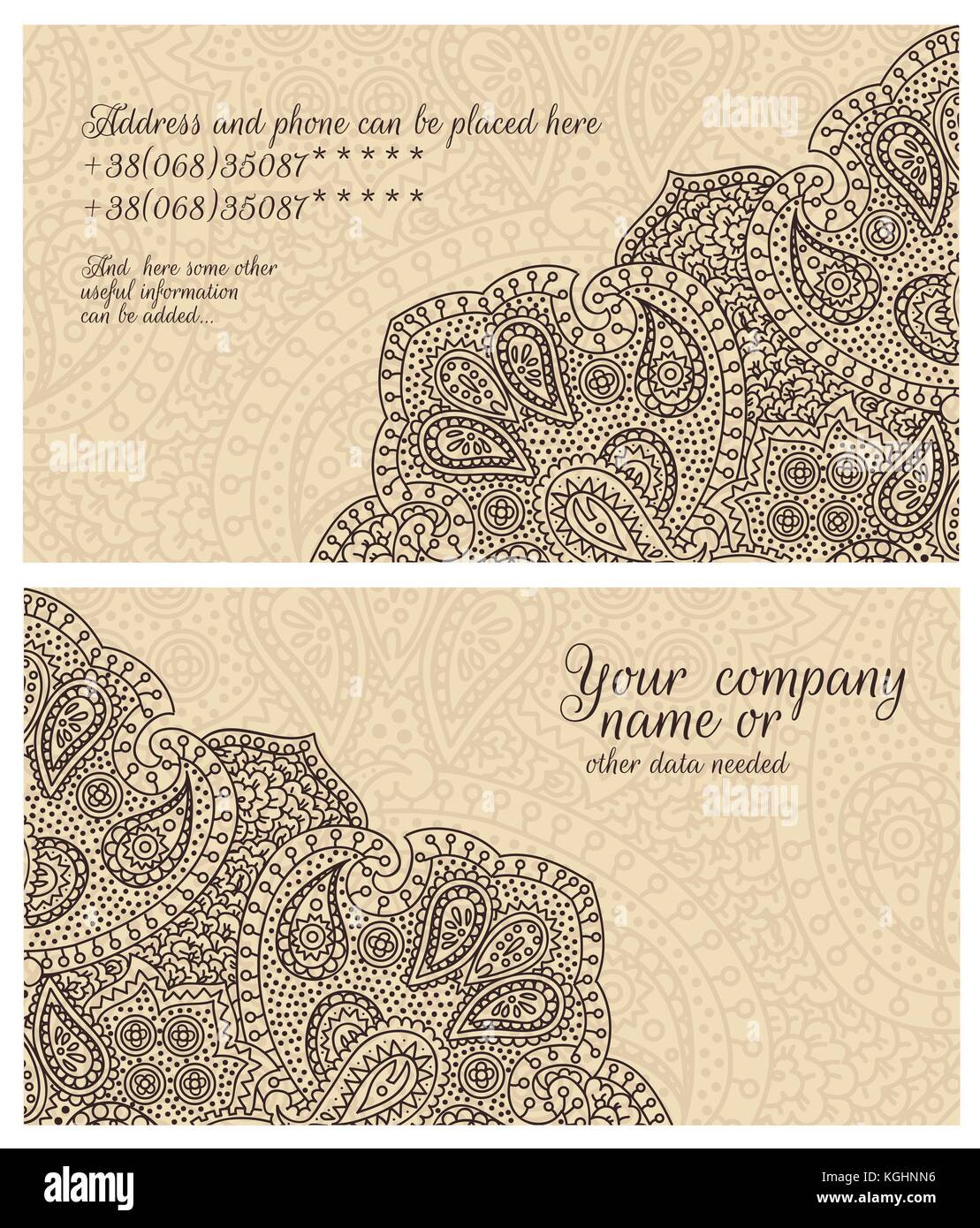 Paisley stock vector images alamy paisley lace coffee business card stock vector magicingreecefo Images