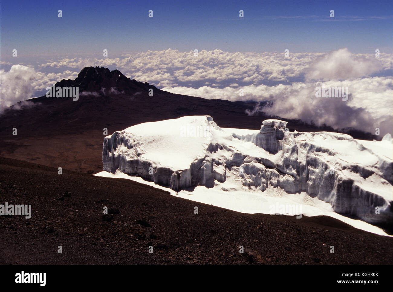 Glaciers On Top Of Mount Kilimanjaro The Highest Point In Africa - Distance above sea level