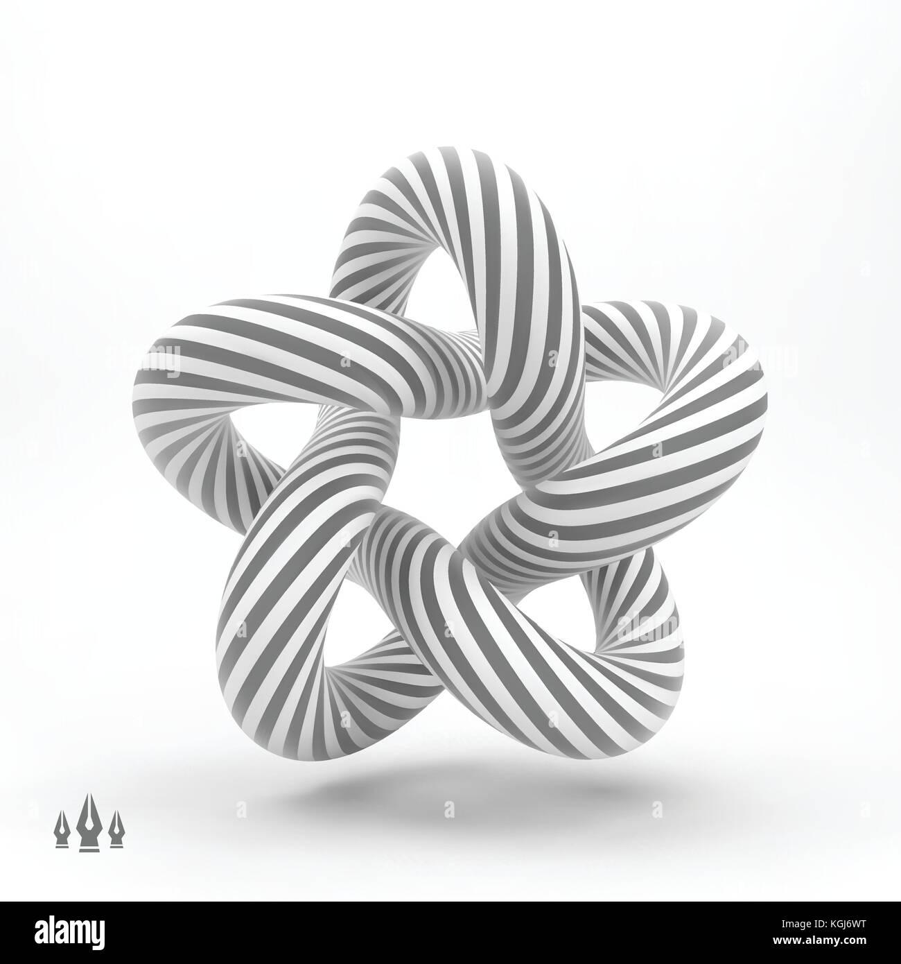 Star  3d geometric shape  Symbol of three-dimensionality