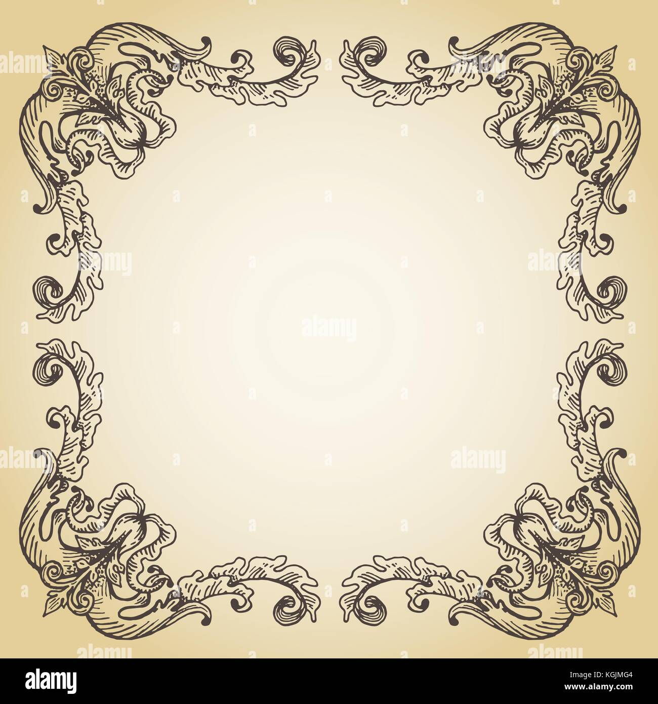 Antique frame drawing Rectangular Mirror Vector Calligraphic Page Decoration Hand Drawn Antique Frame On Old Paper Dreamstimecom Vector Calligraphic Page Decoration Hand Drawn Antique Frame On Old