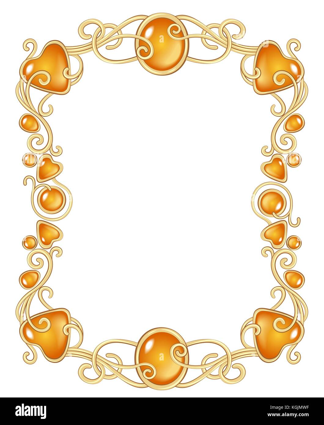 fantasy jewel frame template Stock Vector Art & Illustration, Vector ...