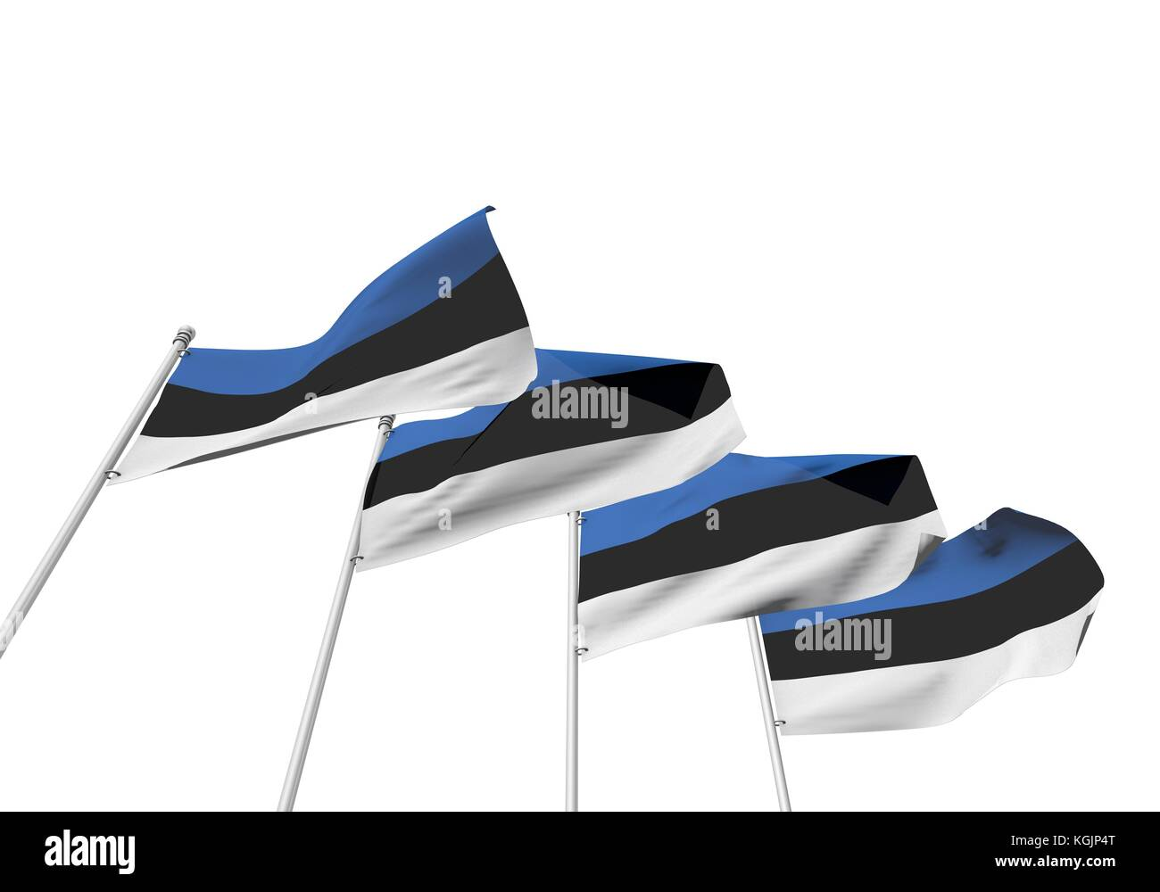 Estonia Flags In A Row With A White Background D Rendering Stock - Estonia flags