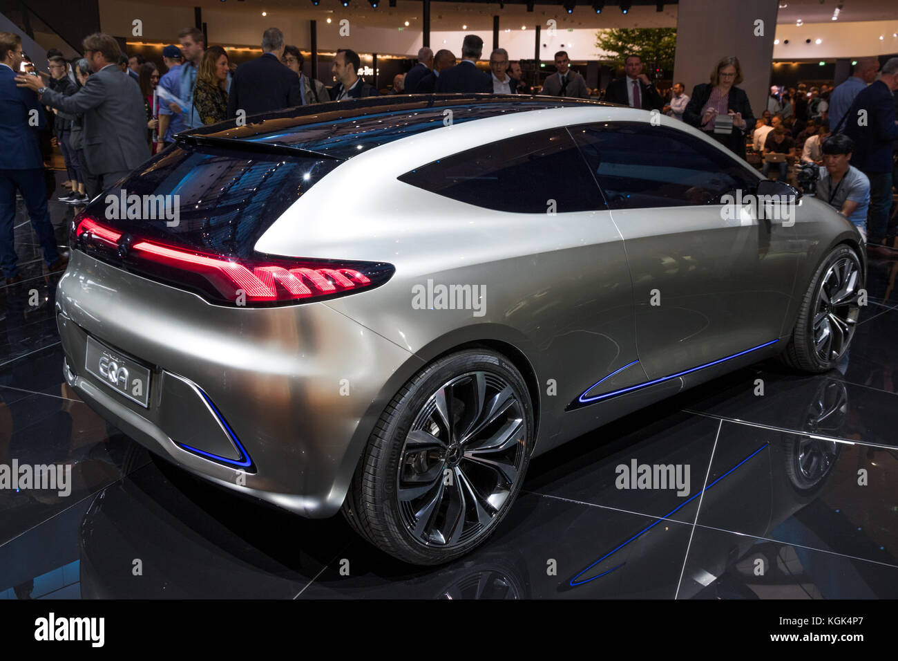 FRANKFURT, GERMANY - SEP 13, 2017: Mercedes-Benz Concept EQA ...