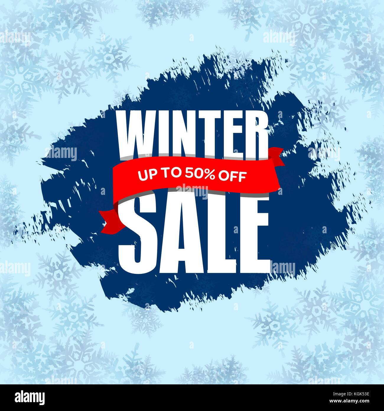 winter sale badge label promo banner template up to 50 off stock