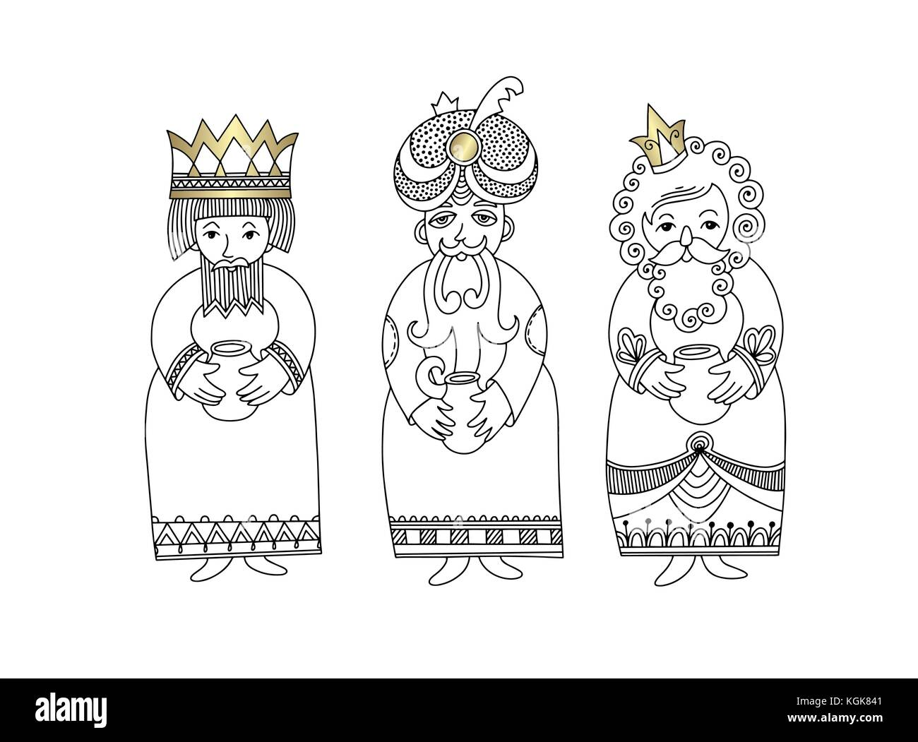 three kings for christian christmas holiday - Melchior, Gaspard ...