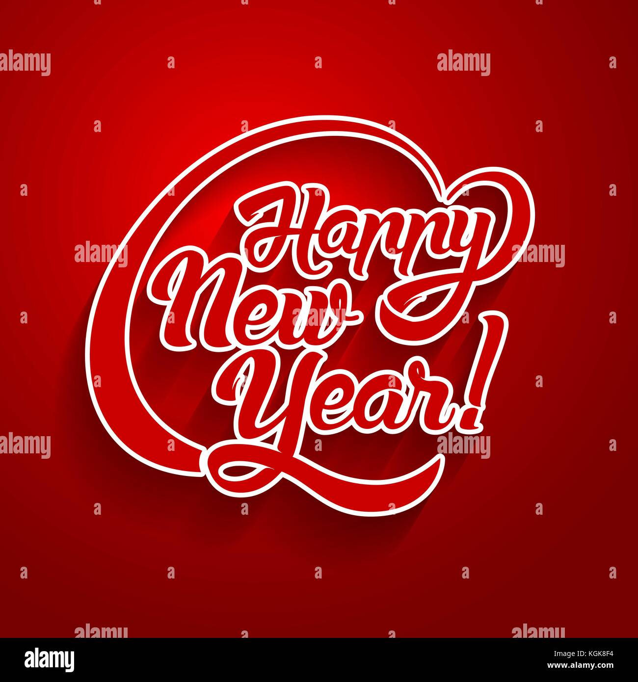 New year greeting card text happy new year lettering vector new year greeting card text happy new year lettering vector illustration kristyandbryce Images