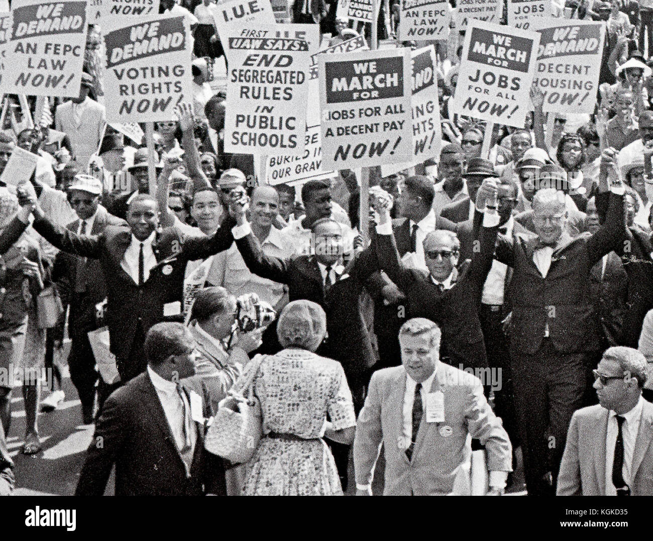 Reverend Dr Martin Luther King Jr And Other Civil Rights Leaders