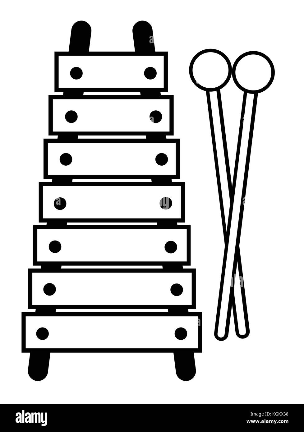 Line Art Xylophone : Xylophone clipart black and white pixshark