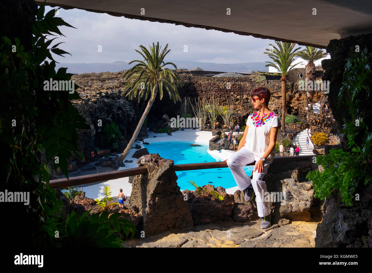 Canarian garden stock photos canarian garden stock for Garden centre pool in wharfedale