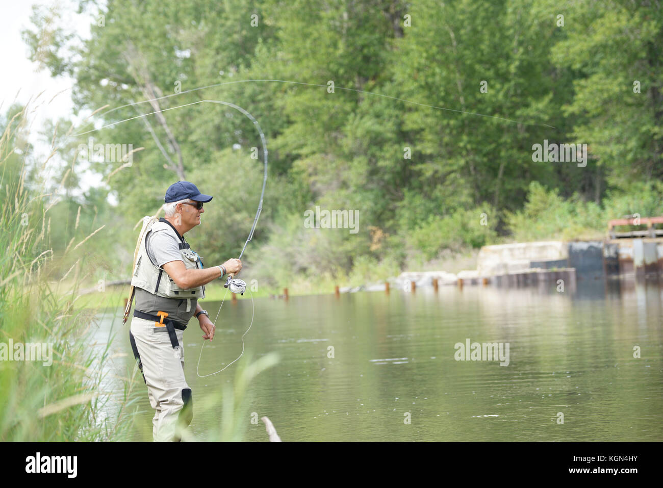 Gallatin river montana fishing stock photos gallatin for Fishing in montana
