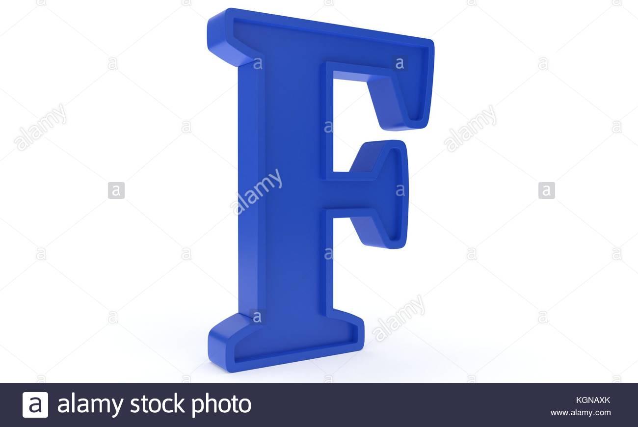 Letter F 3D