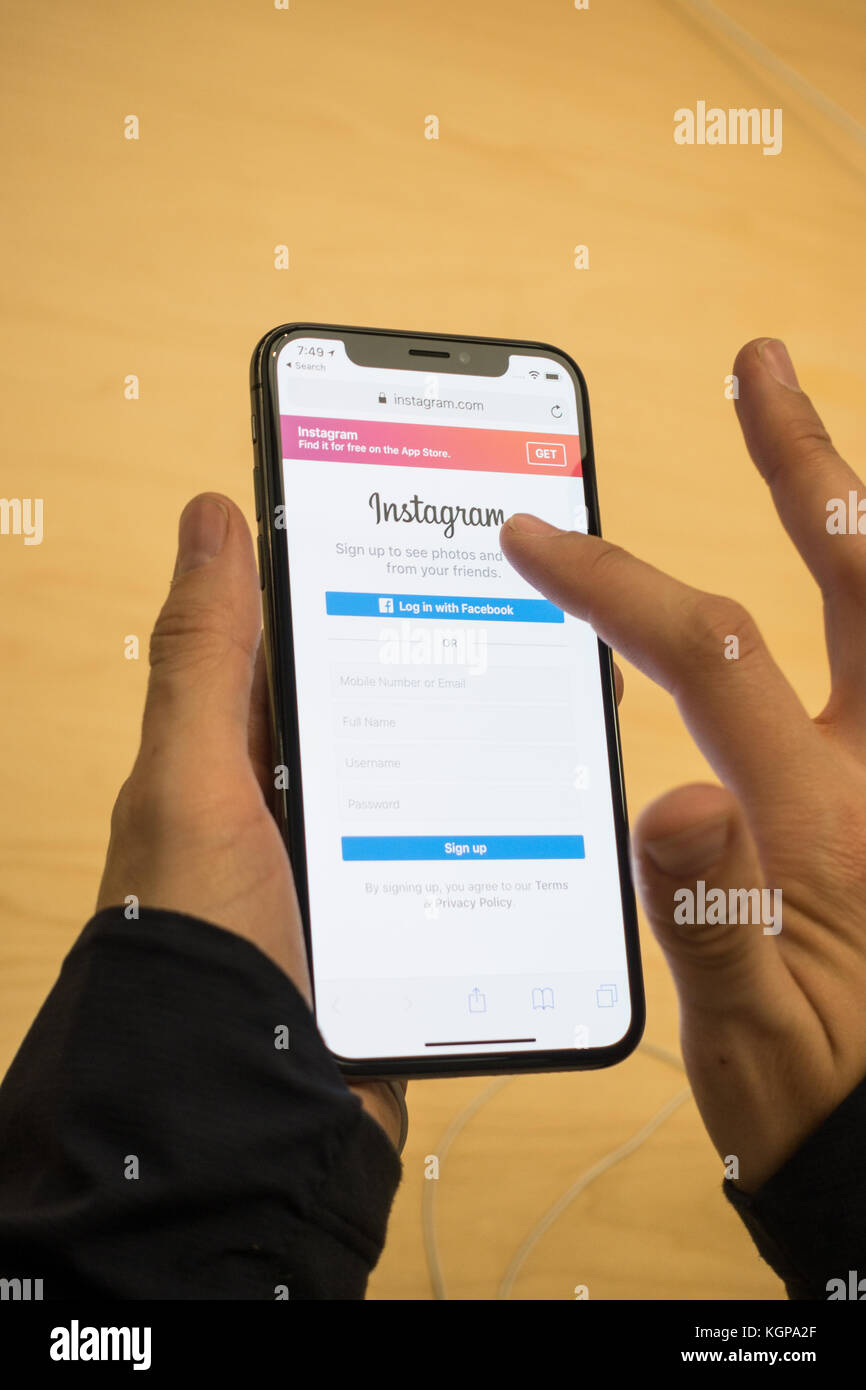 how to delete instagram account on iphone x