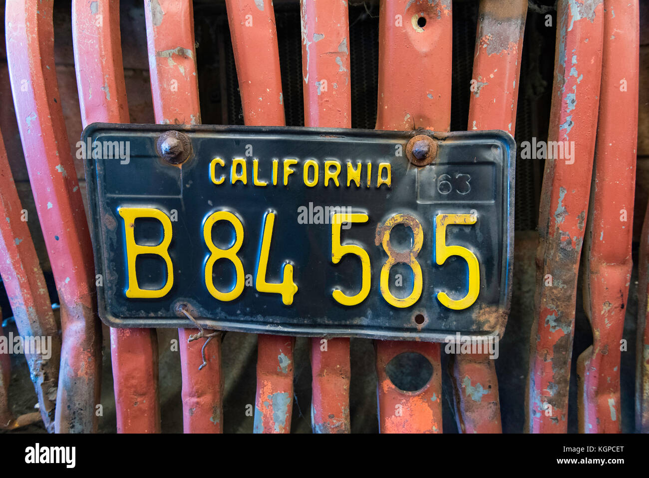 Old California Number Plate Stock Photos & Old California Number ...