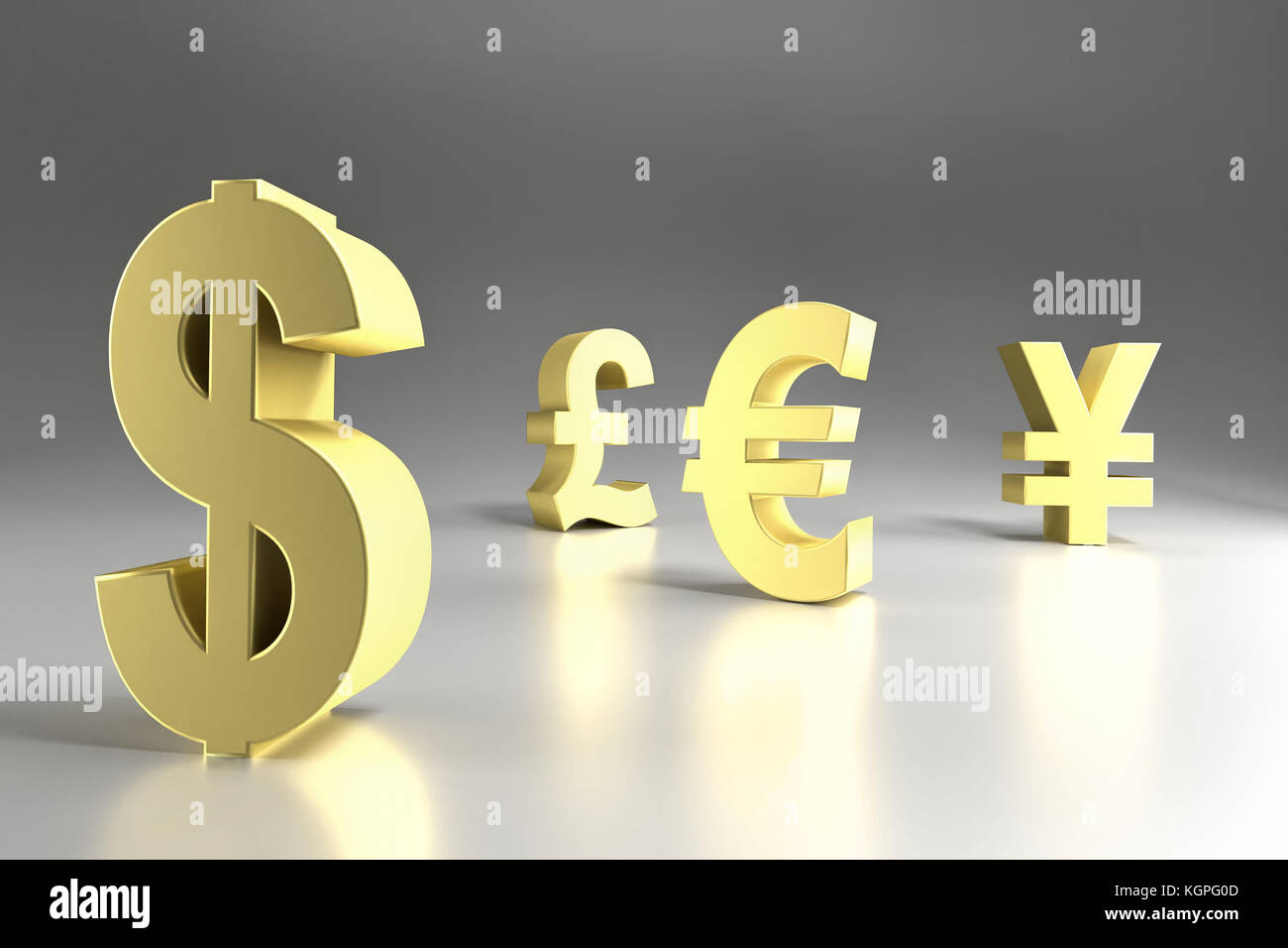 3d rendering of four major currency symbols in golden color dollar 3d rendering of four major currency symbols in golden color dollar pound sterling euro and yen buycottarizona Choice Image