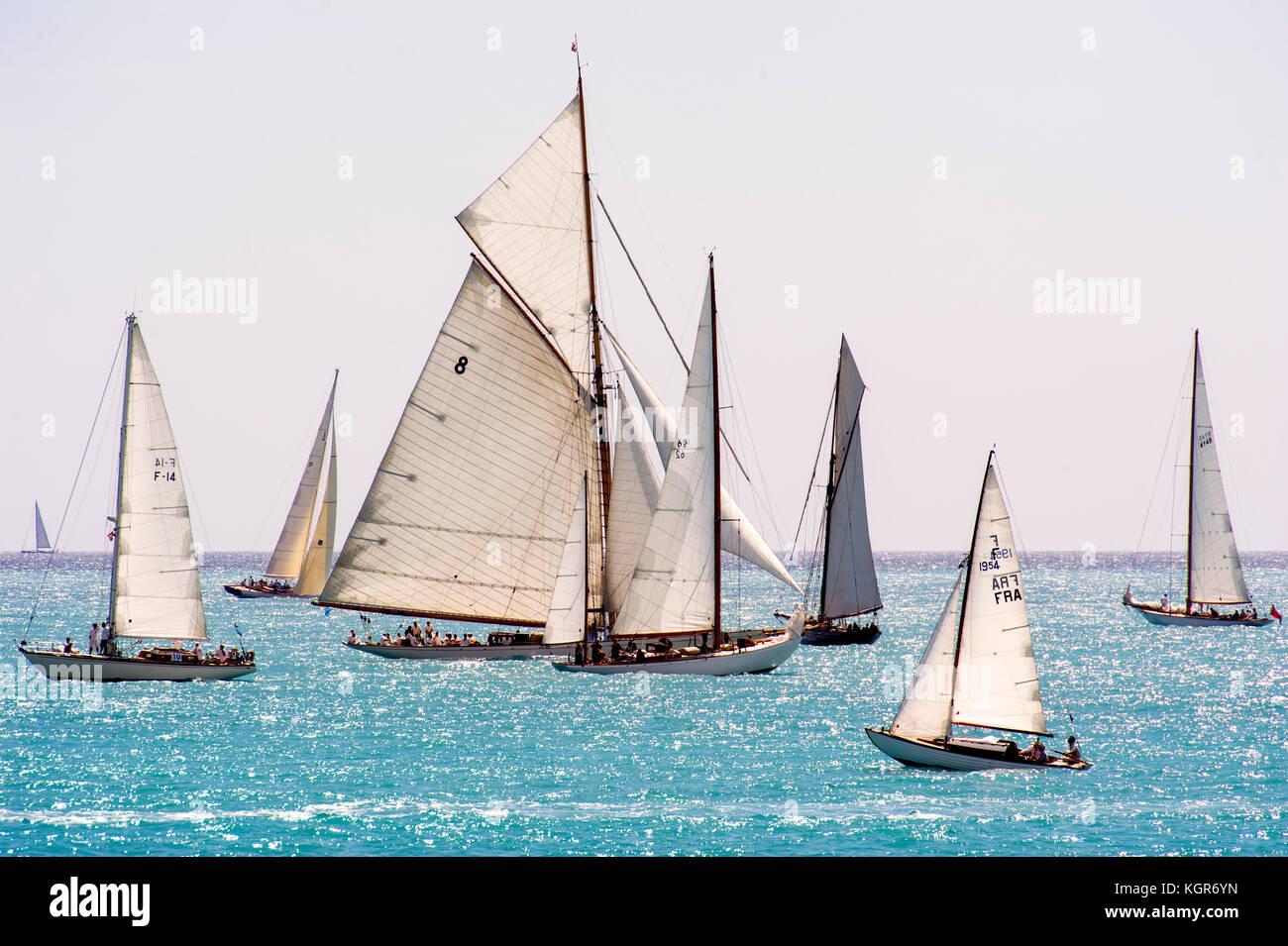 Voile bateau stock photos voile bateau stock images alamy - Le transat antibes ...