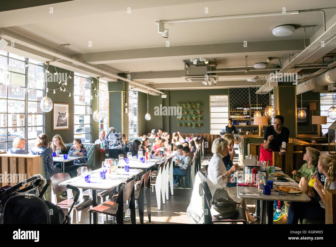 Restaurant interior uk stock photos