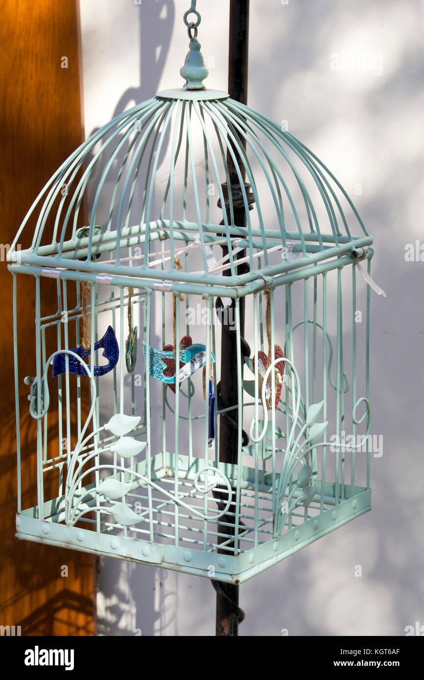 hanging bird cage stock photos hanging bird cage stock images alamy. Black Bedroom Furniture Sets. Home Design Ideas