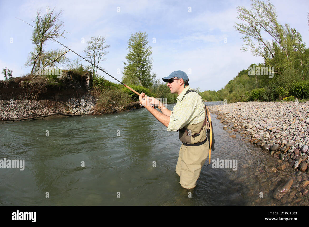 Pole and line caught stock photos pole and line caught for River fishing pole