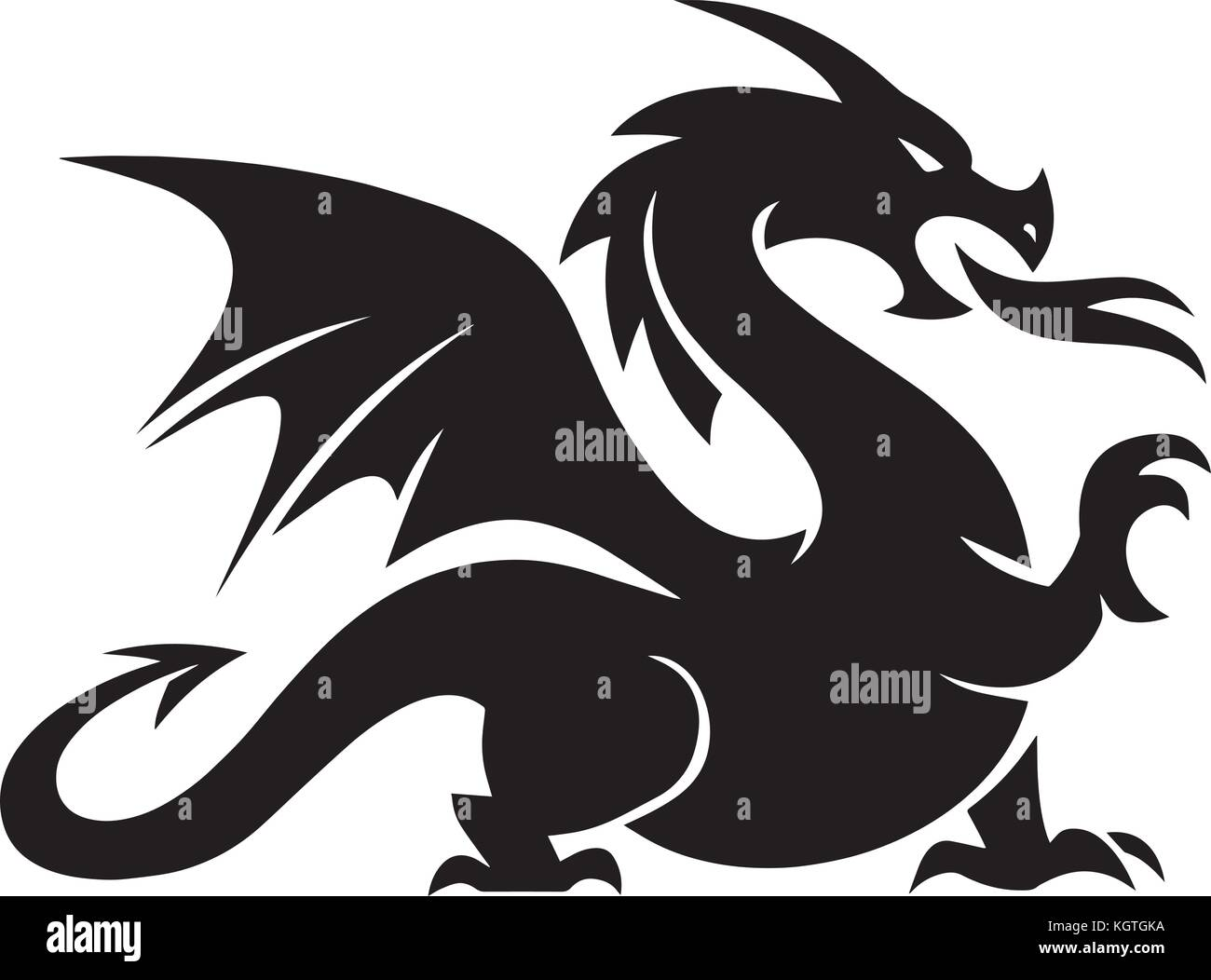 How to breed heraldic dragon - Dragon Vector Design Stock Image