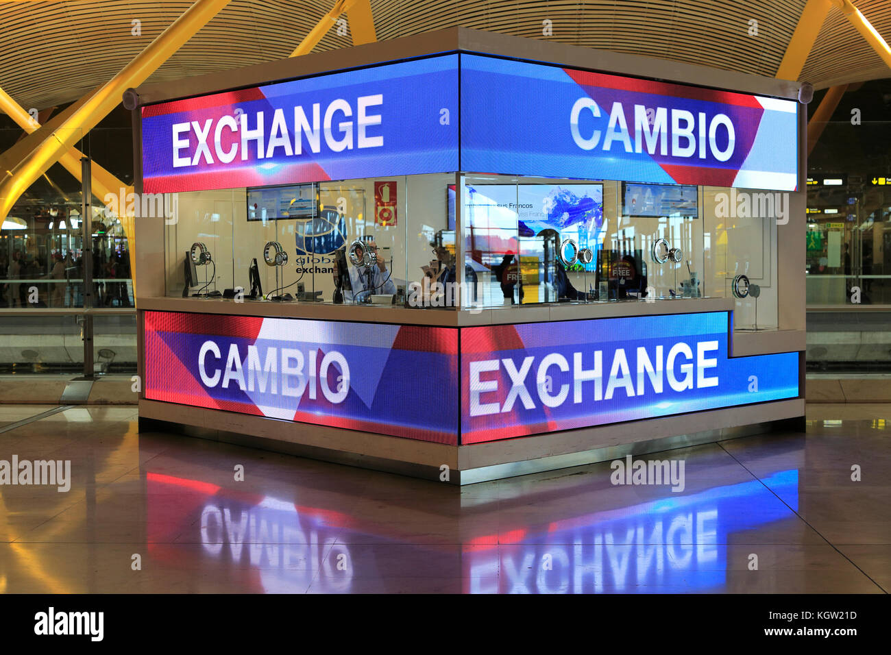 At Currency Exchange Counter Stock Photos At Currency Exchange