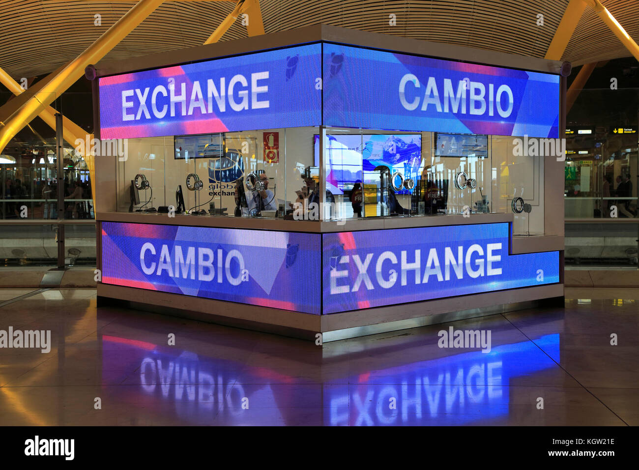 Currency Exchange Booth Stock Photos Currency Exchange Booth