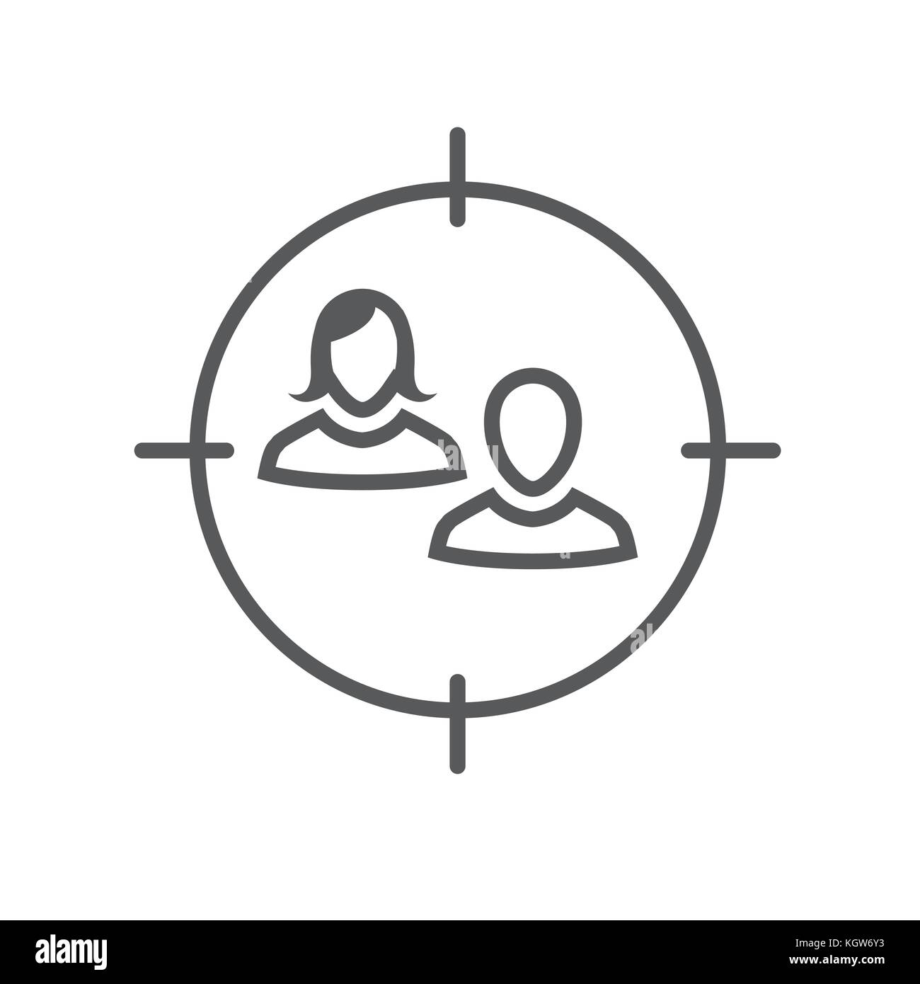 Target market icon with people and target stock vector art target market icon with people and target buycottarizona Image collections