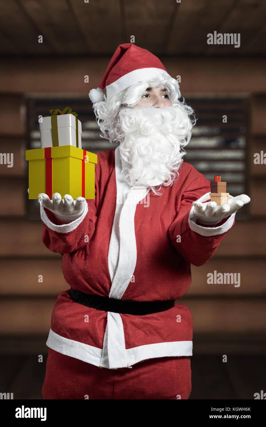 Bad santa claus stock photos