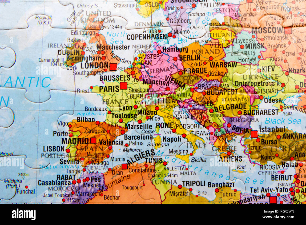 Map europe puzzle stock photos map europe puzzle stock images world map puzzle stock image gumiabroncs Images