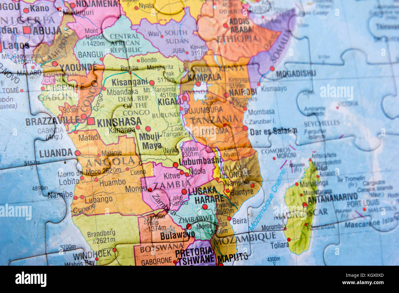East Middle Earth Map%0A World map puzzle  Stock Image