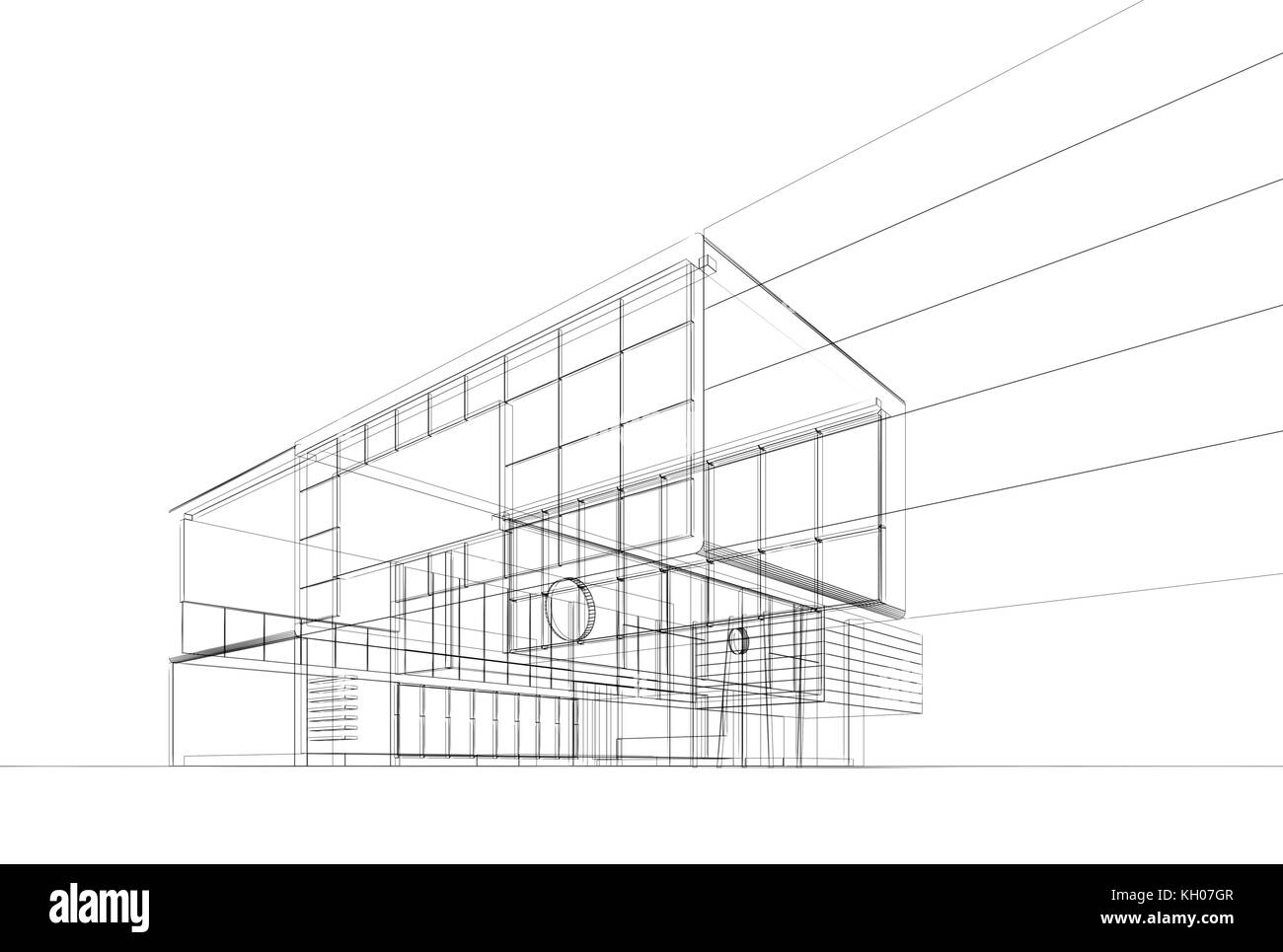 Architecture blueprint on white background building design and 3d architecture blueprint on white background building design and 3d rendering model my own malvernweather Choice Image