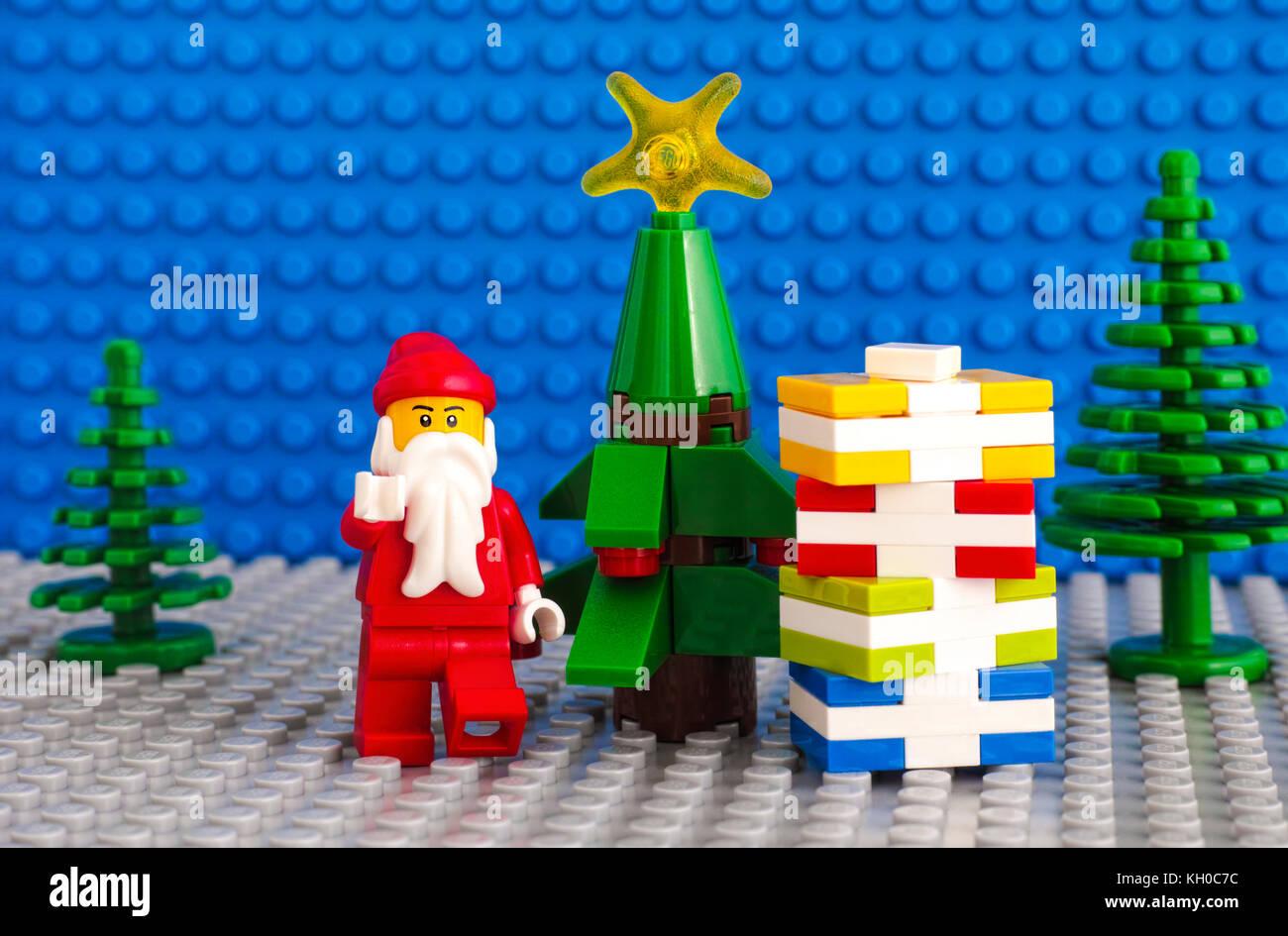 Tambov Russian Federation November 06 2017 Lego Santa Claus And