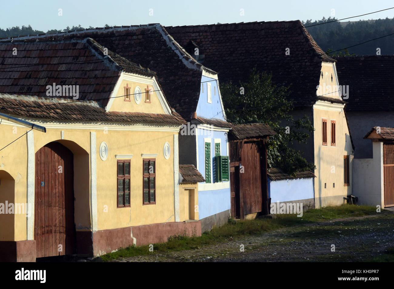Transylvanian houses stock photos transylvanian houses stock images alamy - Saxon style houses in transylvania ...