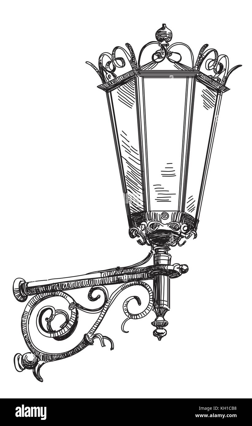 Street Lamp Vector Vectors Stock Photos  for Street Lamp Drawing  51ane