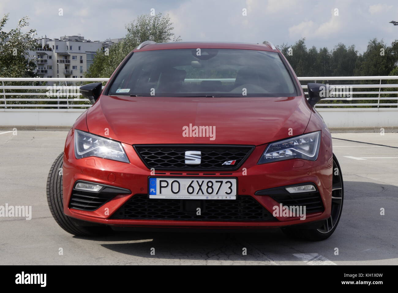seat leon red stock photos seat leon red stock images. Black Bedroom Furniture Sets. Home Design Ideas