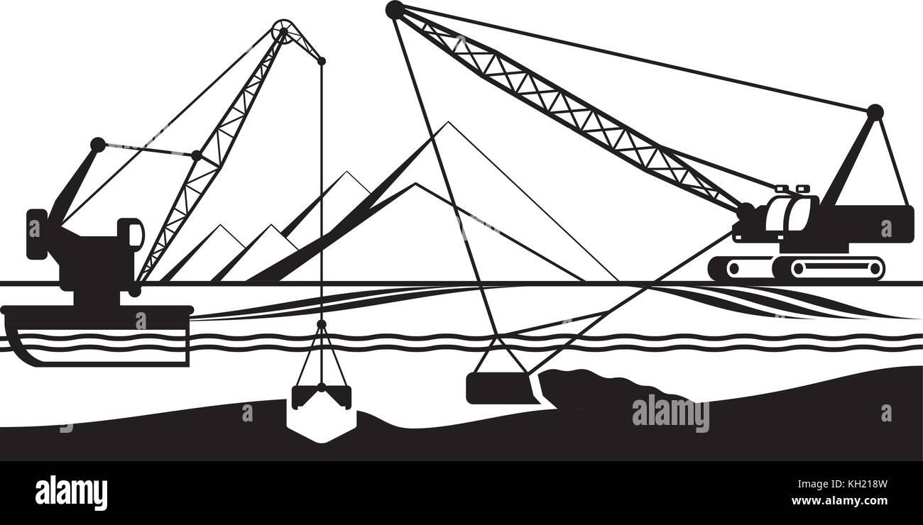 Crane Wheel Clip Art : Excavation stock vector images alamy