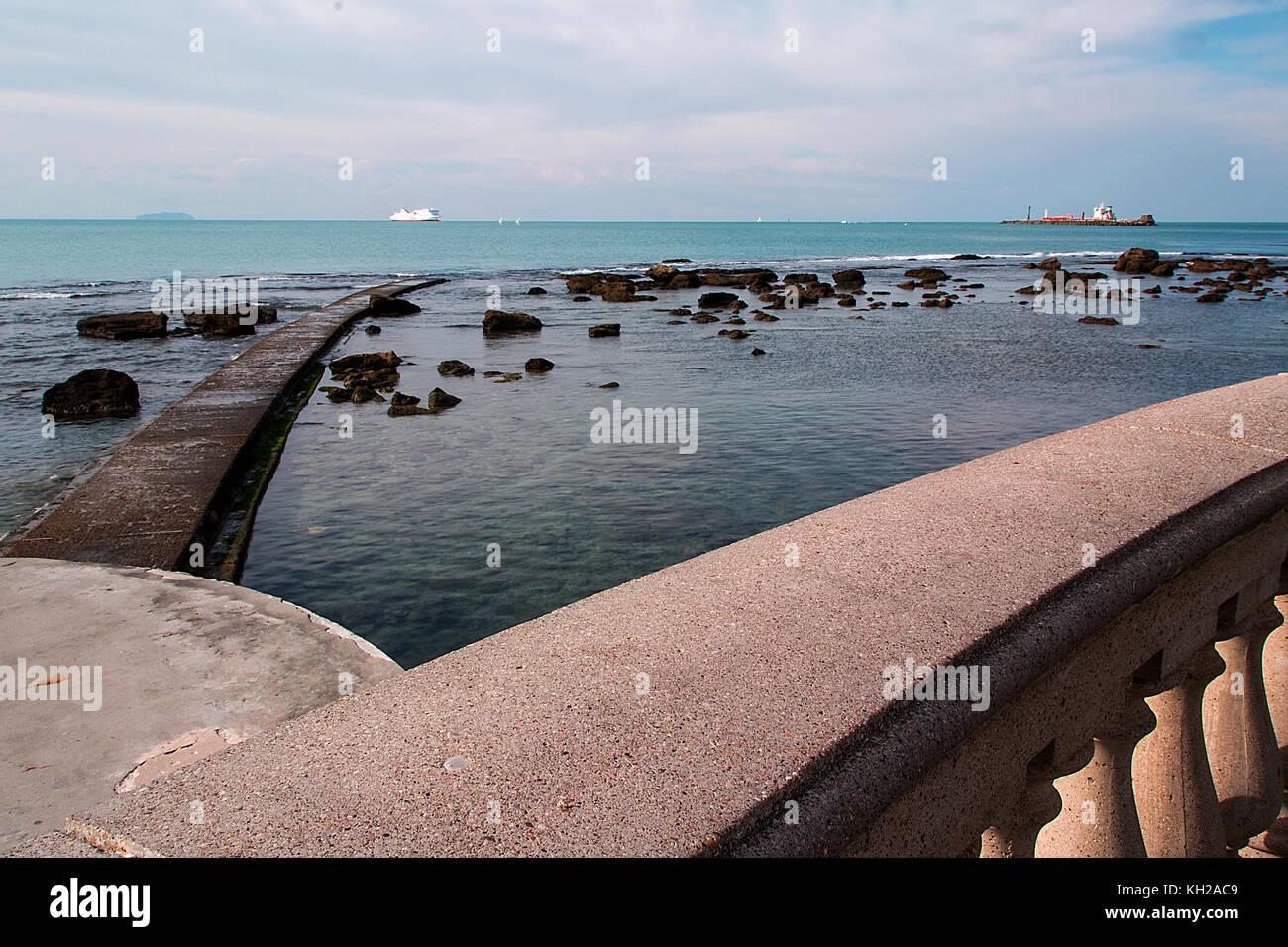 Sea landscape from Terrazza Mascagni in Livorno - Italy Stock Photo ...