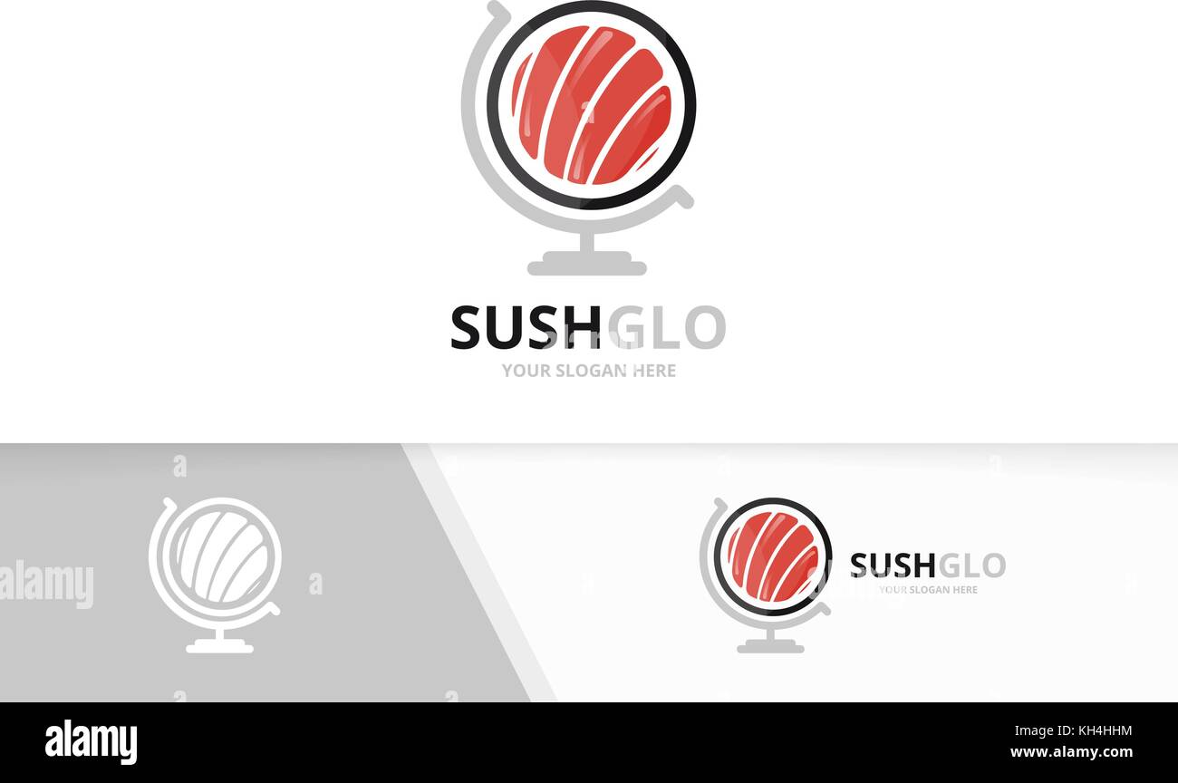 Seafood restaurant logo design creative stock photos seafood vector sushi and globe logo combination japanese food planet symbol or icon unique seafood buycottarizona Image collections