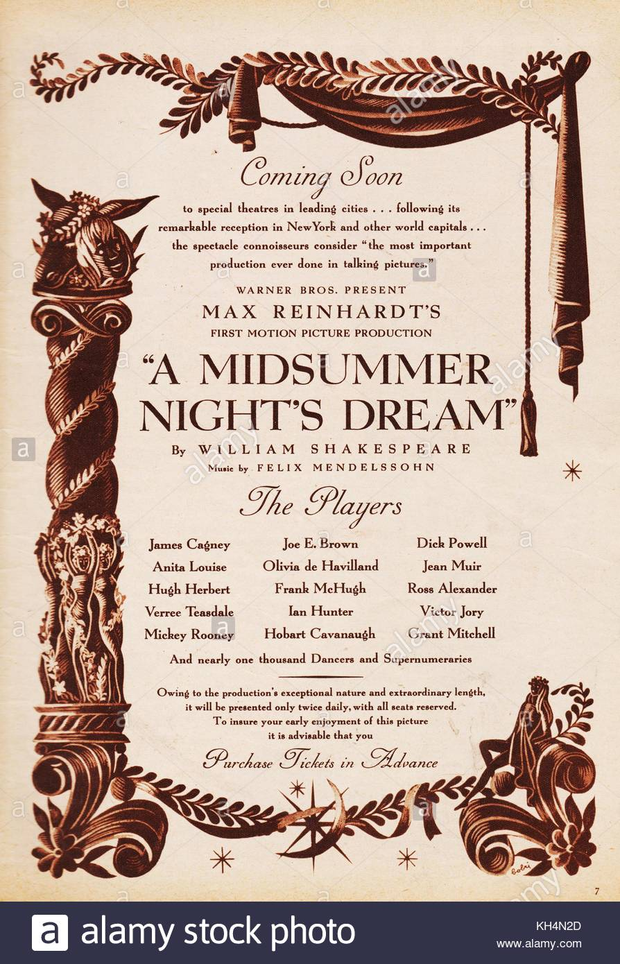 an analysis of the movie based on the play midsummers night dream Puck, also known as robin goodfellow, is a character in william shakespeare's play a midsummer night's dream, based on the ancient figure of puck found in english mythology puck is a clever film mickey rooney, in the oscar-winning 1935 film.