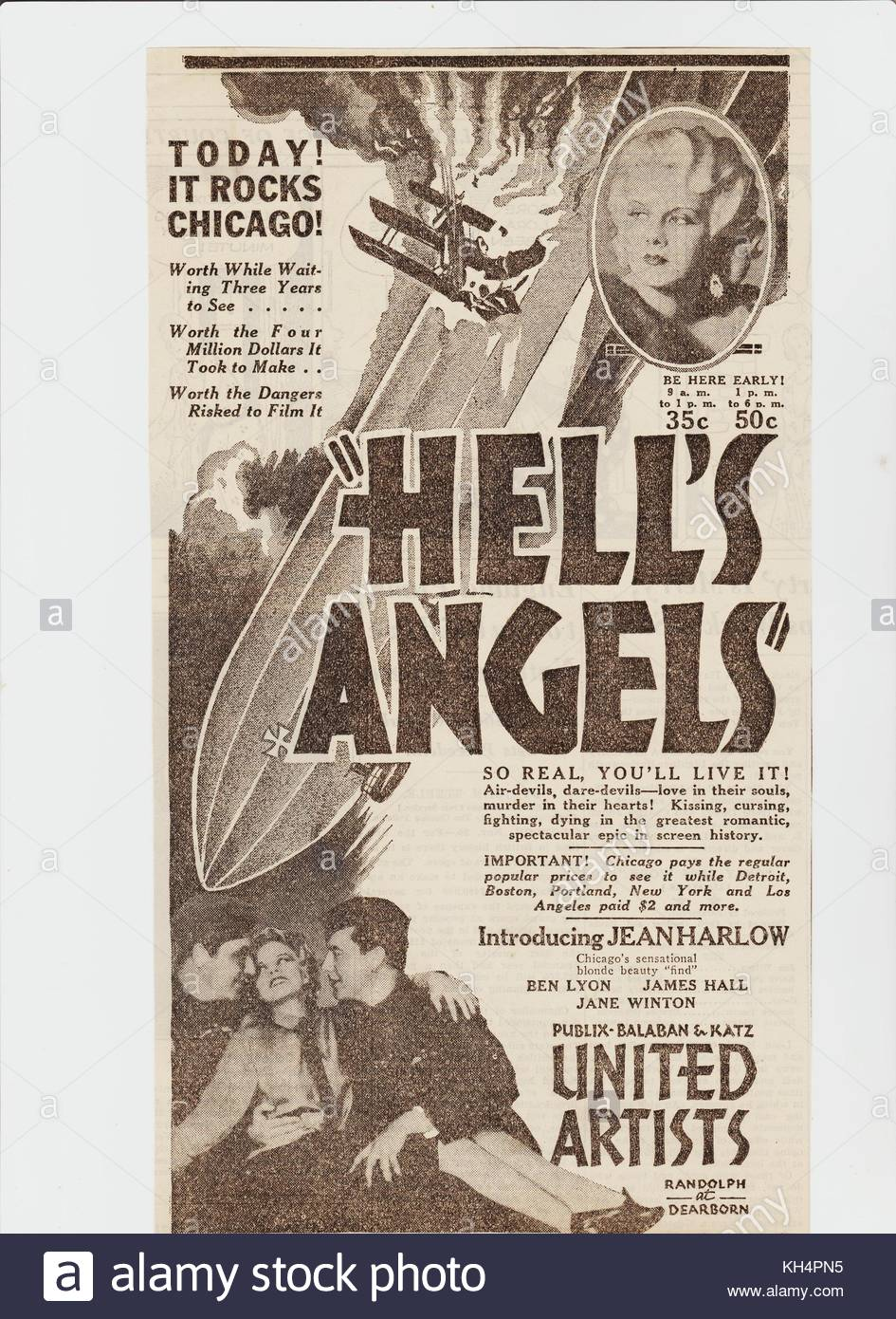Hell's Angels Film Stock Photos & Hell's Angels Film Stock ...