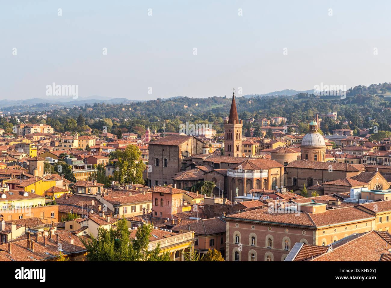 Bologna city skyline from the Terrazza di San Petronio viewing ...