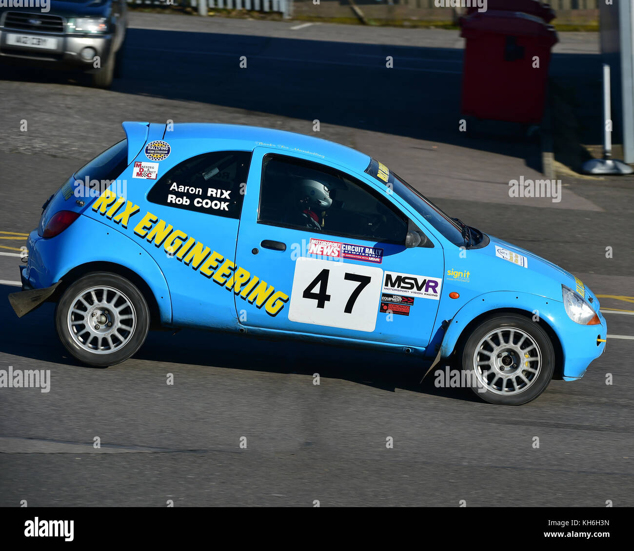 Aaron Rix Stephen Greenhill Ford Ka Mgj Rally Stages Chelmsford Motor Club Brands Hatch Saturday St January  Msv Rally Racing Rallyi