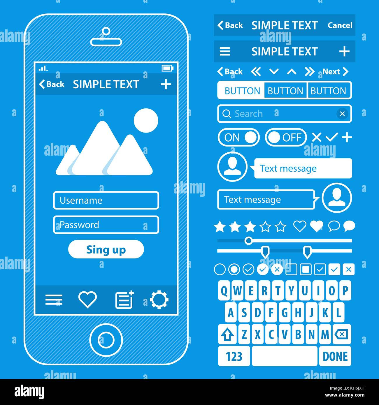 Ui elements blueprint design vector kit in trendy color with ui elements blueprint design vector kit in trendy color with simple stock vector art illustration vector image 165489033 alamy malvernweather Images