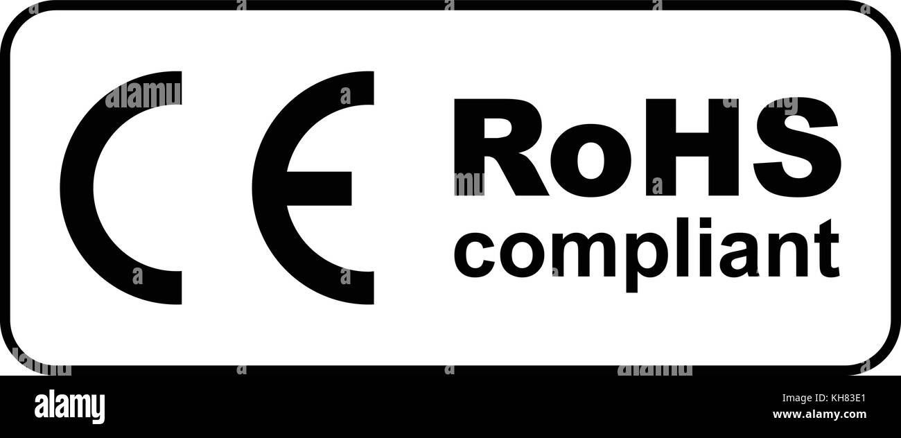 ce rohs compliant sign vector illustration stock vector