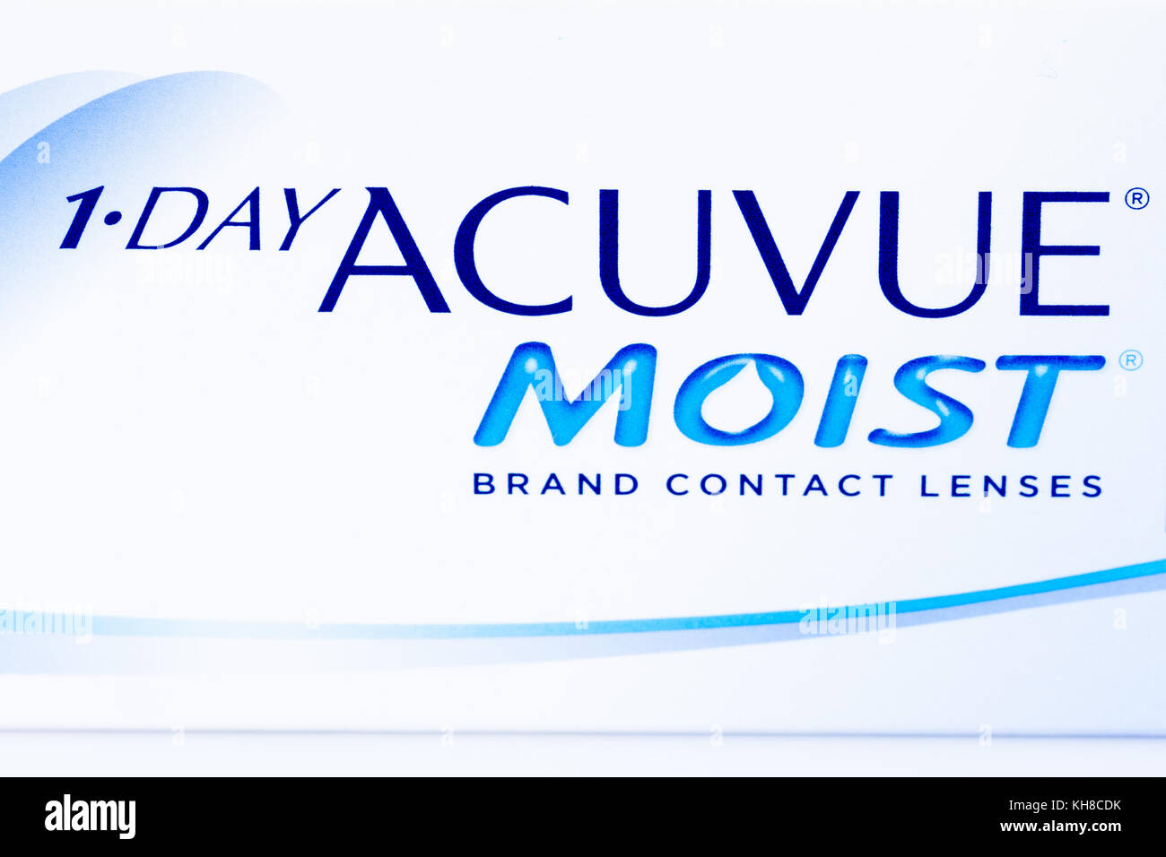 Lenses correction eyes stock photos lenses correction eyes stock 1 day acuvue moist brand contact lenses close up of logo on box nvjuhfo Image collections