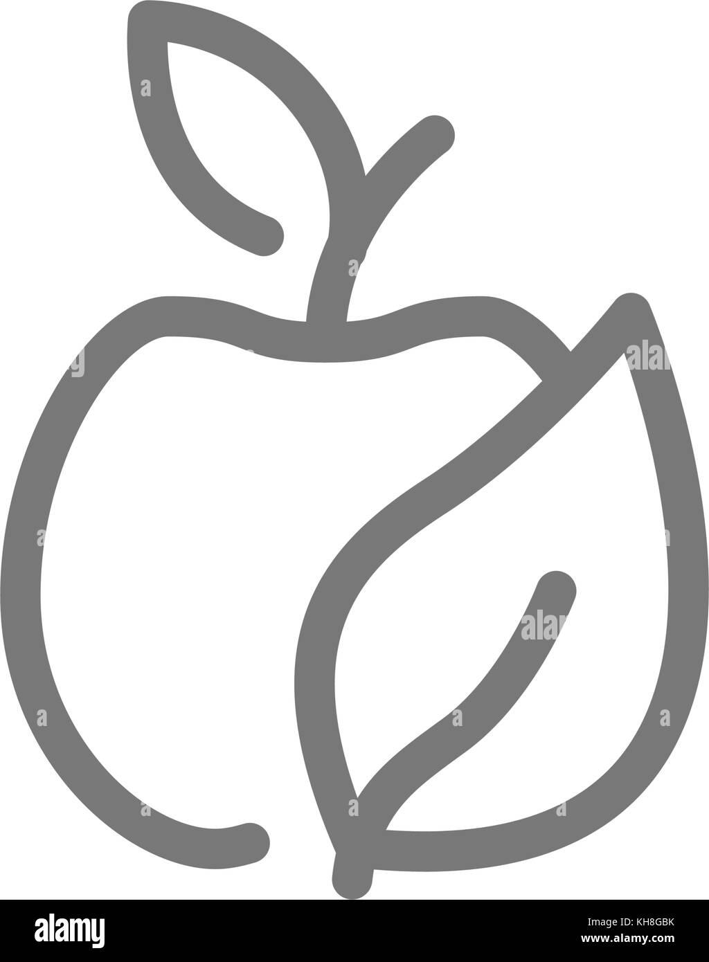 Apple symbol stock photos apple symbol stock images alamy simple eco apple line icon symbol and sign vector illustration design isolated on white buycottarizona