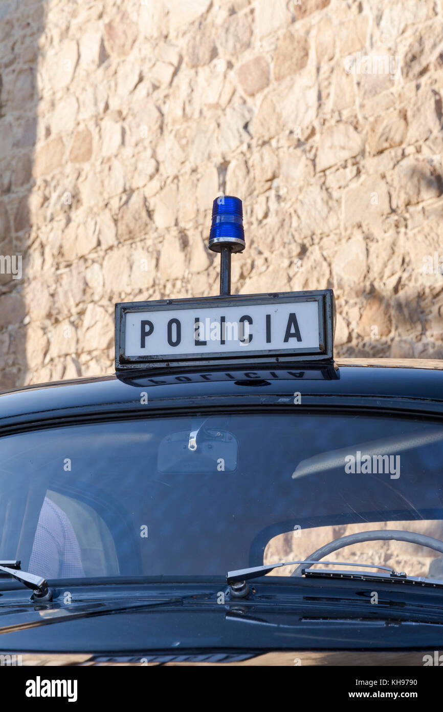 Old vehicle in the center of the city in a police display Stock ...
