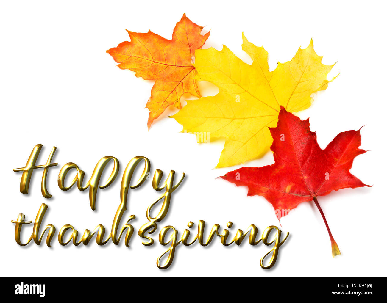 Thanksgiving stock photos thanksgiving stock images alamy happy thanksgiving greeting autumn background of colorfull leaves stock image kristyandbryce Images