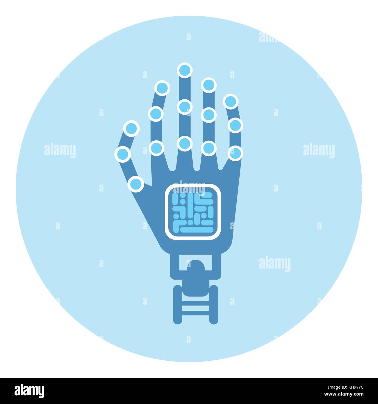 Robotic Arm Icon Modern Robot Technology Concept Stock Vector Art ...