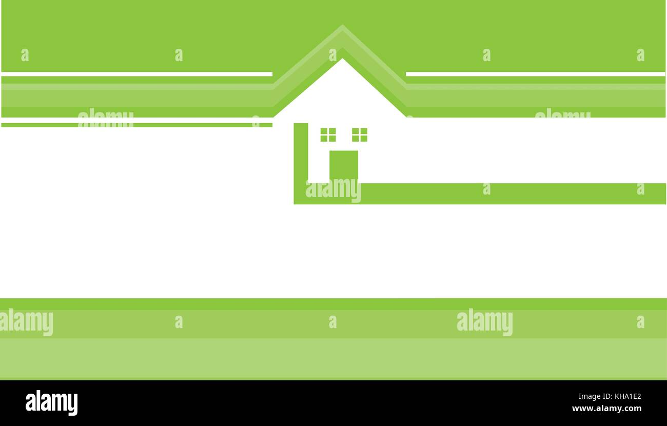 real estate business card template with house logo stock photo